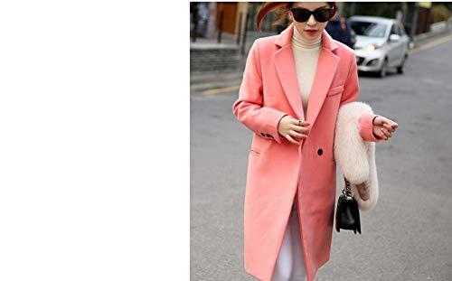 Mélange Mei Seul Garder Pourun Bouton Les Au Chaud Longue D'hiver Femmes Red Egcra Manteaux Veste Mince YW2bDH9eEI