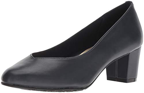 Soft Style by Hush Puppies Women's Gracee Pump, Navy Vitello, 7.5 M US
