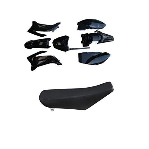 Foam Seat Plastic Body kit Fender Black Fit Yamaha TTR110 TTR 110 110-250cc Dirt bike (seat and plastics)