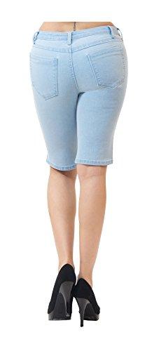 HyBrid & Company Womens Perfectly Shaping Stretchy Denim Bermuda Short