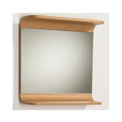 Whitehaus AEM055N Aeri Rectangular Mirror with Integral Wood Shelf, Natural/Birchwood ()
