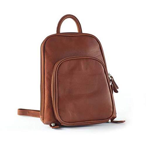 (Osgoode Marley Cashmere Small Organizer Backpack (Brandy) Medium)