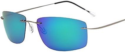 MinegRong Fall polarisiert Titan Silhouette Sonnenbrillen Polaroid Gafas Men Square Sonnenbrillen Sonnenbrillen f/ür M/änner Frauen