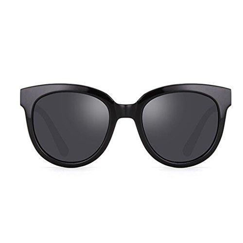 Sol Fashion Personality Big QZ Light Vintage Color Simple HOME Gafas Box Polarized de Verde Negro Avnztvq