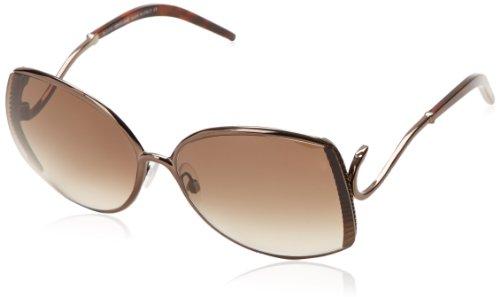 Roberto Cavalli Women's RC663S6348F Square Sunglasses,Shiny Dark Brown,63 mm