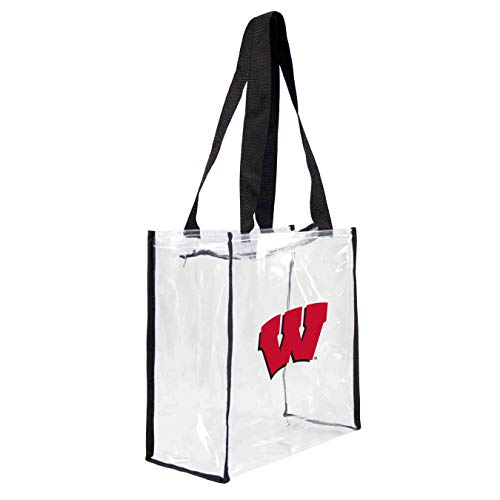 (NCAA Wisconsin Badgers Clear Square Stadium Tote)