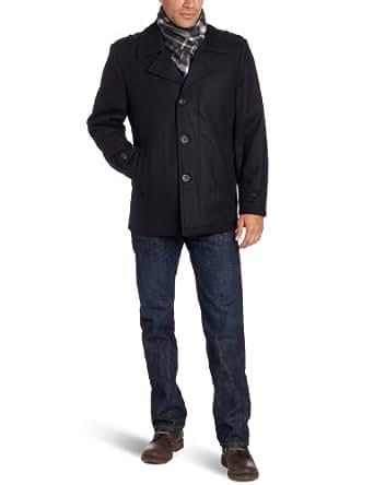 Michael Kors Men's Monroe Scarf Coat, Black, X-Large