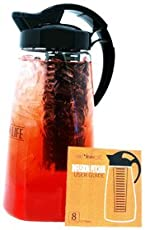 Air Water Life Fruit &Tea Infusion Pitcher   Infuse Fruit, Herbs, Spices And Tea, Make Perfect Detoxing & Healthy Beverages, Dish Washer Safe, Odor & Stain Free, Best Gift for Health-Conscious People