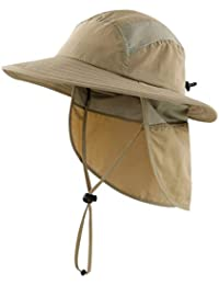 Home Prefer Kids Lightweight Quick Dry Summer Sun Hat Beach Hat for Boys Fishing Hat Khaki