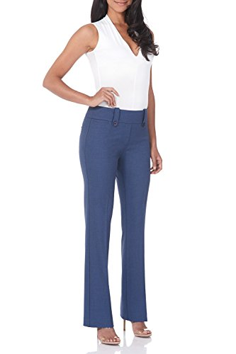 (Rekucci Women's Smart Desk to Dinner Stretch Bootcut Pant w/Tummy Control (16SHORT,Indigo))