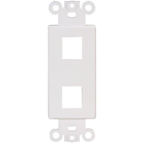 Decora Type Insert - Decora Type Keystone Insert 2 Ports White