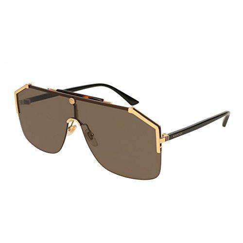 GUCCI 0291 SYLVIE Black Tortoise Shield Sunglasses Unisex