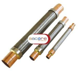 Unión flexible inoxidable CASTEL 7690/5 con conexiones de cobre a soldar de 5/