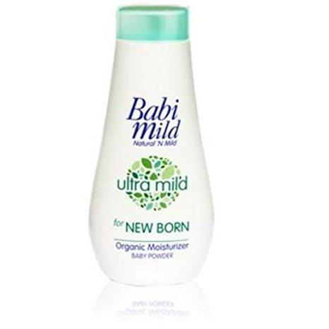 BABI MILD Ultra Mild Organic Moisturizer Baby Powder For New Born Size 150 g.