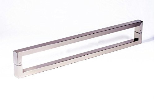 Modern & Contemporary Square/Rectangle Shape 610mm / 24 inches Push-Pull Stainless-Steel Door Handle for Interior/Exterior - Satin Brushed Finish