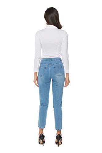 36a8732d657f5a Soojun Women's Long Sleeve Easy Care Work Bodysuit Shirt | Weshop ...