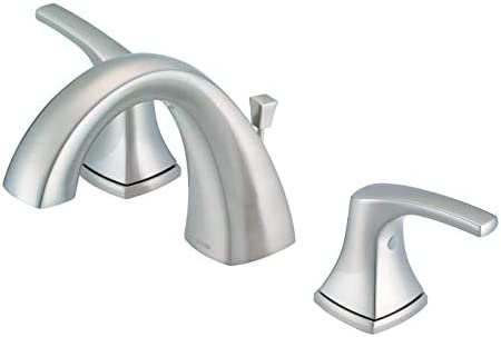 Danze D304118BN Vaughn Widespread Bathroom Faucet with Metal Pop-Up Drain, Brushed Nickel