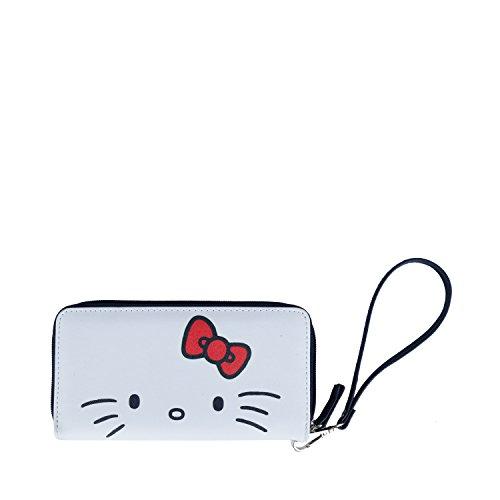 Carteira Feminina com Zíper Branca Hello Kitty Urban