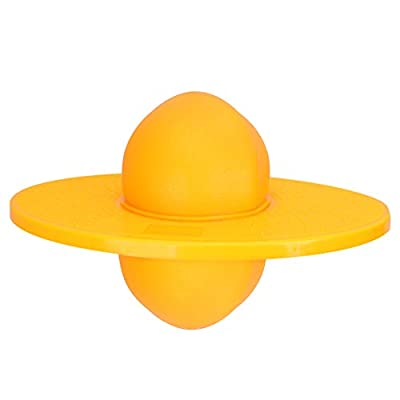 LIOOBO Pogo Ball Balance Board Bounce Ball Fitness Ball for Kids Adults with Pump (Yellow) : Sports & Outdoors