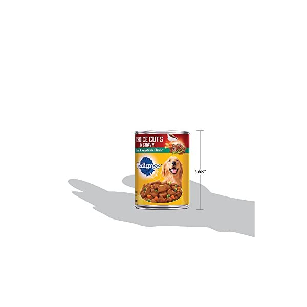PEDIGREE CHOICE CUTS IN GRAVY Adult Canned Wet Dog Food, 13.2 oz. (Pack of 12) 7