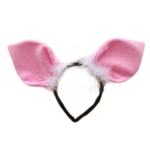 TopTie Cute Headbands Plush Headwear Party Accessories Halloween Costume-Pig