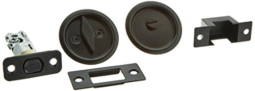 Bath Pocket Door Lock - Kwikset 335 Round Bed/Bath Pocket Door Lock in Venetian Bronze