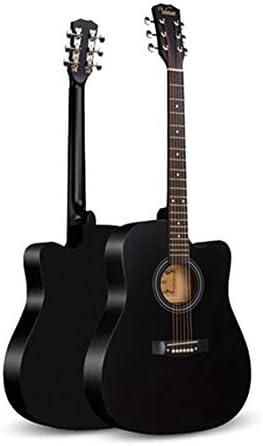 初心者 入門ギター ミュージカル初心者男性と女性の初心者の練習学生大人41インチの木製ギター初心者 小学生 大人用 (Color : Black, Size : 41 inches)