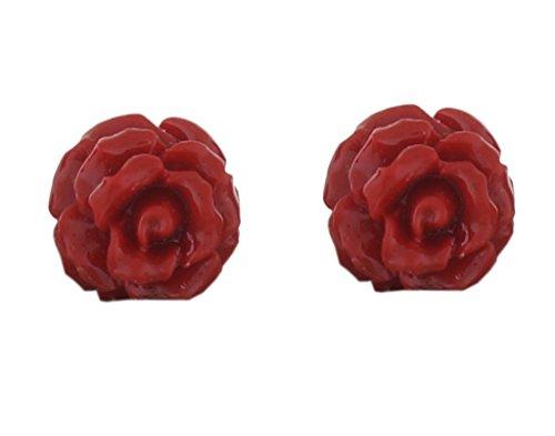 Classique Designer Jewellery Alloy Marron Rose Stud Earrings