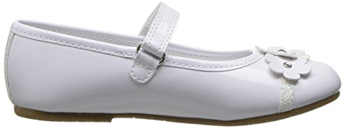 Rachel Lil Girls' Flat Ballet Melody Patent White Shoes UrfTqwxvU