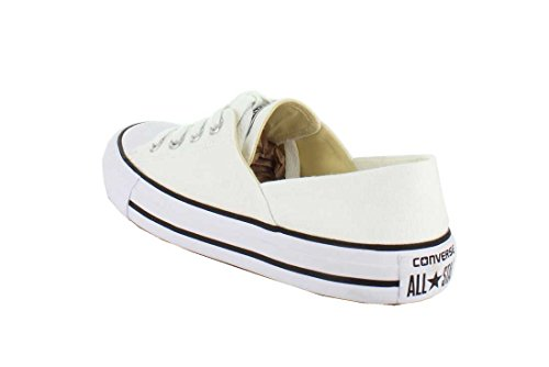 Converse Womens Chuck Taylor Coral Ox Canvas Trainers White Black