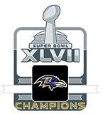 Baltimore Ravens Super Bowl XLVII (47) Champions Pin Wordmark