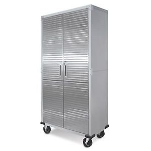 Metal Rolling Garage Tool File Storage Cabinet Shelving Stainless Steel Doors by Genric