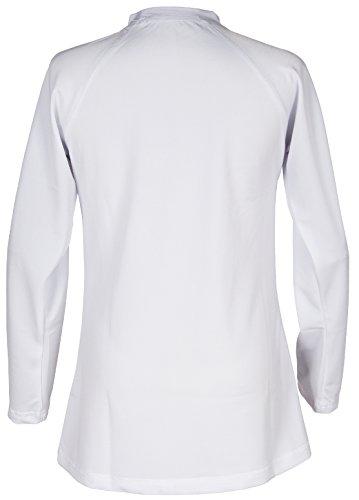 Girls' Ruffled Valentine Solid Rash Guard Swim Shirts UPF 50+ Sun Protective (12, White Long) by Holy Unicorn (Image #4)