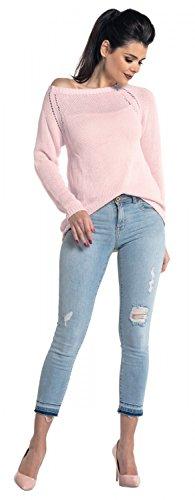 Zeta Ville - Suéter de punto Jersey de manga larga - Petite - para mujer - 341z Polvo de Color Rosa