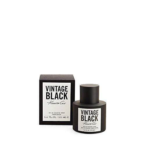 Vintage Black by Kenneth Cole Eau de toilette Spray for Men, 3.40 Ounce