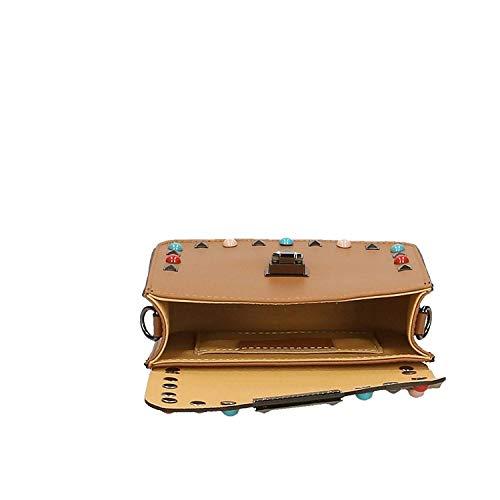 Light pelle 18x15x7 Dimensione tracolla tracolla Made con donna in Piccola Italy Colore Vera da Leather Pochette Cm Mud 0wgU66