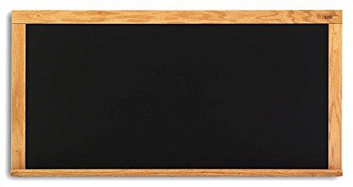 Composition Chalkboard in Black w Oak Wood Trim (48 in. x 96 in.) by Marsh