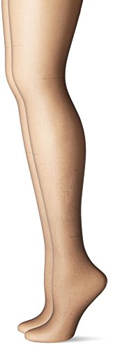 Just My Size Women's Smooth Finish Control Top Panty Hose, Off Black, 3X