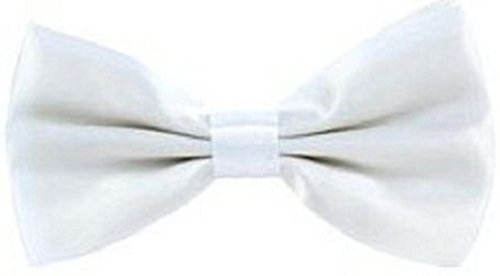 White Satin Bow Wedding Necktie Fancy L Boys ties Party Mens Gift Pre Plain Tied amp;C®New ww4x6qPz