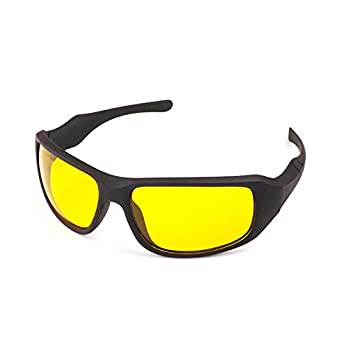 271eabe333e Buy Amogha Night Vision Driving Anti Glare Safety Glasses (Black and  Yellow) Online at Low Prices in India - Amazon.in