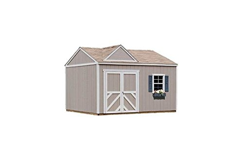Handy Home Storage Sheds - Handy Home Products Columbia Wooden Storage Shed with Floor, 12 by 20-Feet