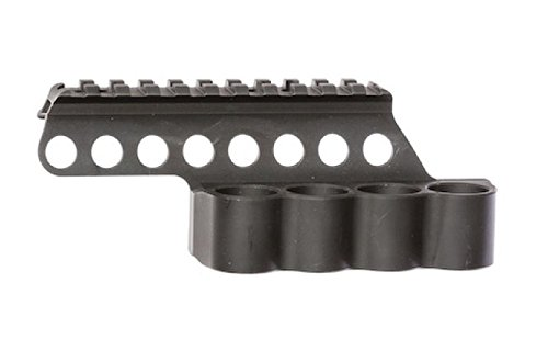 - Mesa Tactical SureShell Carrier and Rail for Mossberg 500/590 (4-Shell holder, 12-GA, 4 1/2 in top rail)