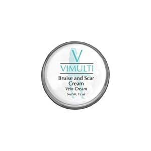 Vimulti Varicose Vein Treatment and Bruise Cream with Natural Acne Scar Remover Moisturizers all in one. Eliminate Spider Veins naturally plus added Scar Removers and Bruise Cream Vitamins.