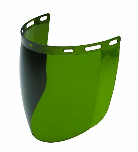 Molded Visor - Gateway Safety 683 Venom Cylindrical Molded Contemporary Replacement Headgear Visor, IR Filter Shade 3.0 Lens, 9