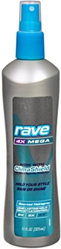 4x Mega Hair Spray Aerosol - Rave Hs 4x Mega Scented N Size 11 Oz Rave Hairspray 4x Mega Hold Scented Non-Aerosol 11oz