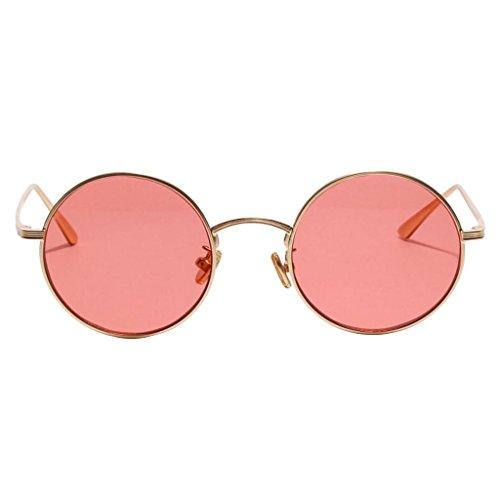Rojo Femeninos de Clásica Forma MagiDeal Pesca Decoración 1x Masculinos Viajes Sol Retro Redonda Estilo Gafas Vidrios Personalidad 6EFaq1