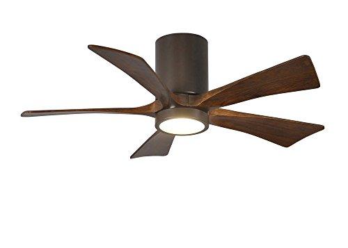 (Matthew's Fan Irene Textured Bronze 42-inch 5-Blade Hugger Paddle Fan with Light Kit)