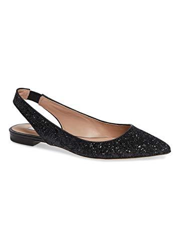 (James Chan Women Shoes Nakasey Flat Slingback Black Kidskin 7 M US)