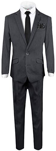 Black n Bianco Signature Boys' Slim Fit Suit Complete Outfit