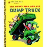His Dump Truck - The Happy Man and His Dump Truck (Little Golden Treasures) [Board book]